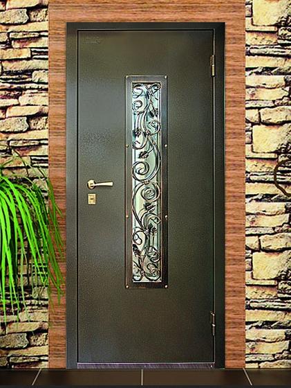 Металлическую дверь со стеклом своими руками